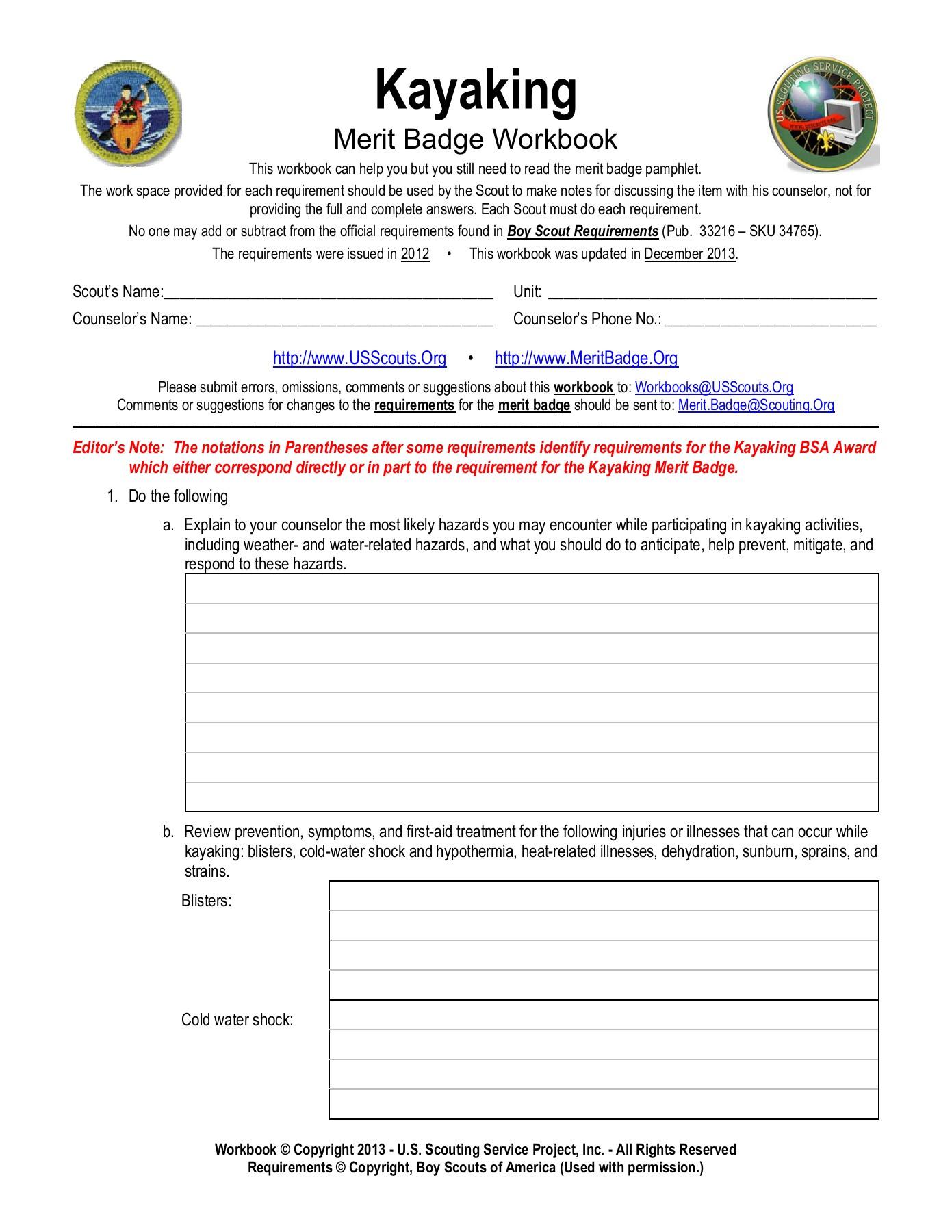 Personal Fitness Merit Badge Workbook
