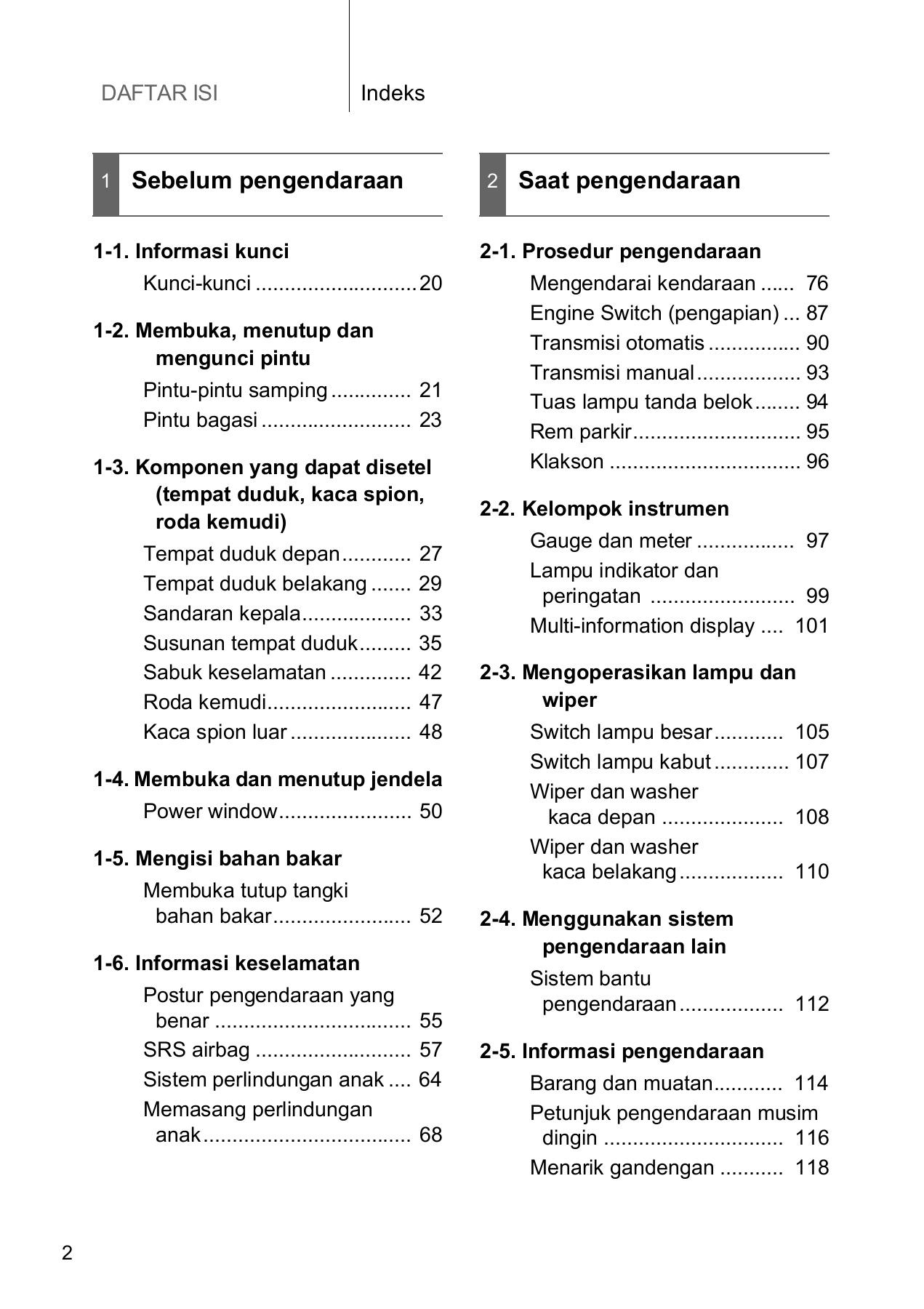 buku manual grand new veloz tipe all kijang innova book avanza indonesia pages 1 50 text version anyflip