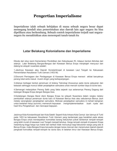 Arti Kolonialisme Dan Imperialisme : kolonialisme, imperialisme, Pengertian, Kolonialisme, Imperialisme-Flip, EBook, Pages, AnyFlip