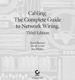 cabling the complete guide to network wiring 3rd edition jul 2004 sybex  [ 1500 x 1800 Pixel ]