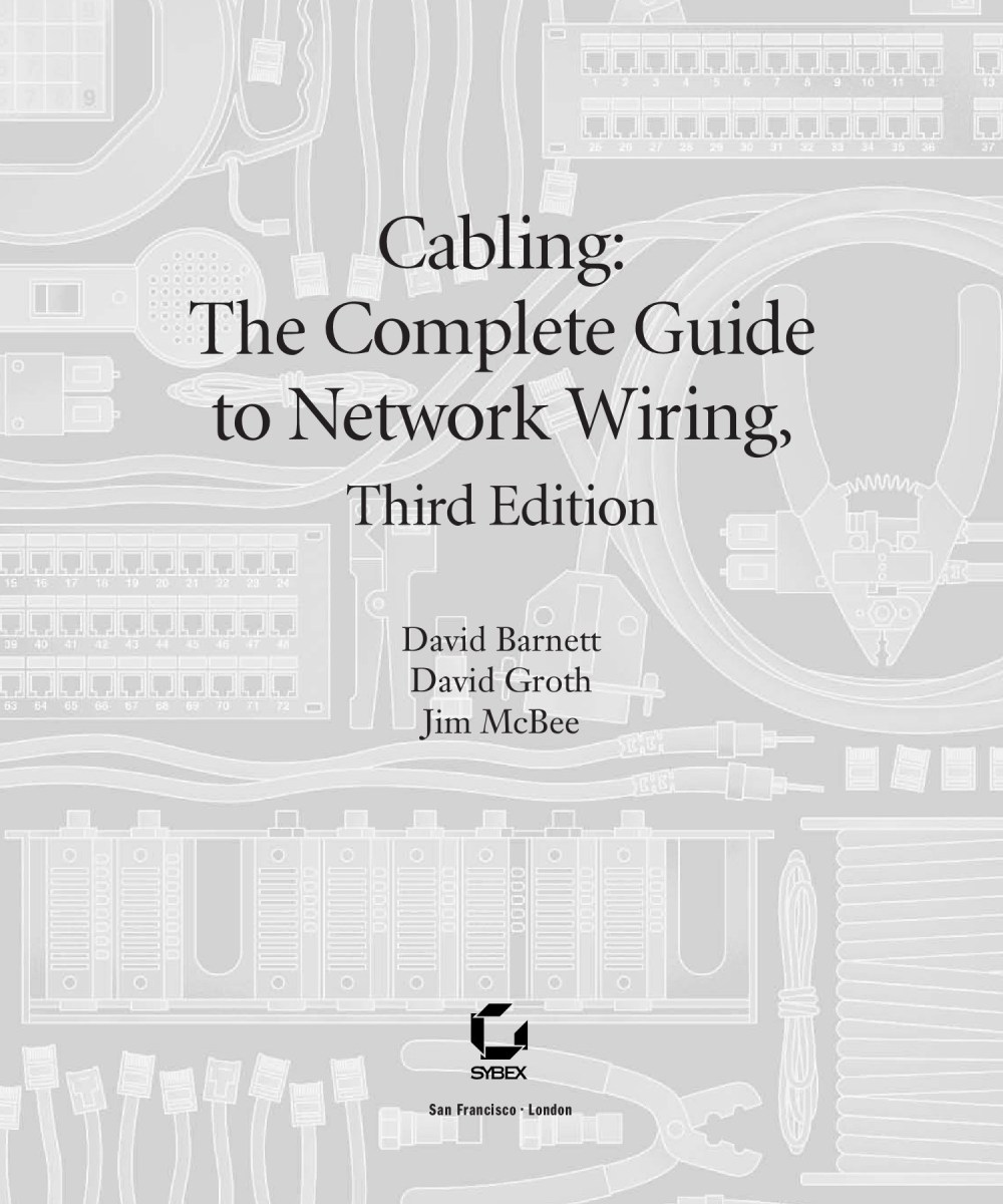 medium resolution of cabling the complete guide to network wiring 3rd edition jul 2004 sybex