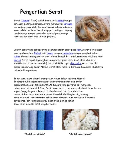 Bahan Serat Alam : bahan, serat, Ulangan, Harian, 1-Flip, EBook, Pages, AnyFlip