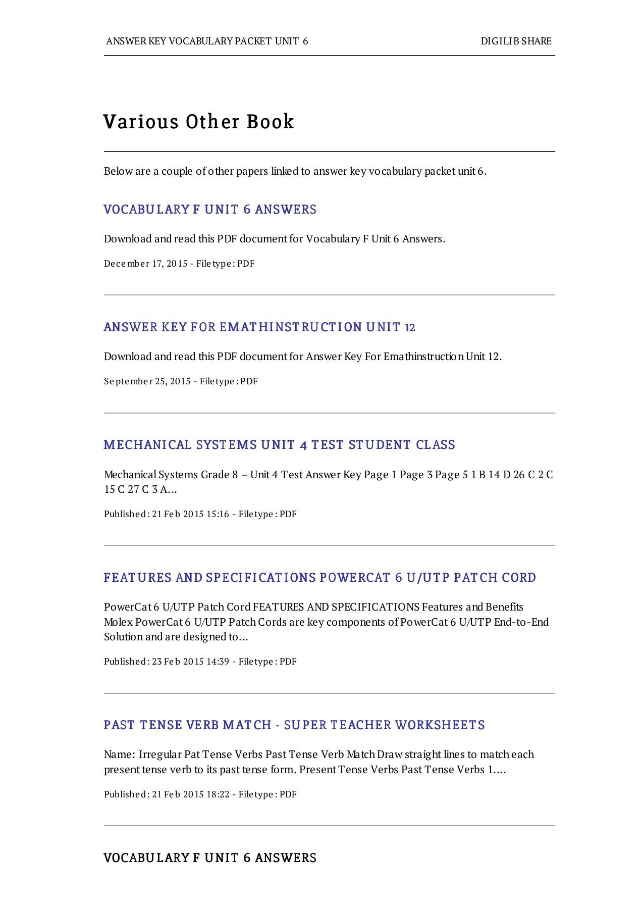 Bestseller Vocabulary Workshop Level D Unit 4 Answers