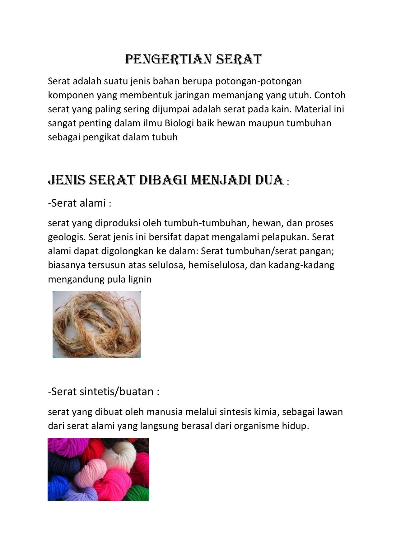 PDF BAB II TINJAUAN PUSTAKA A. Serat