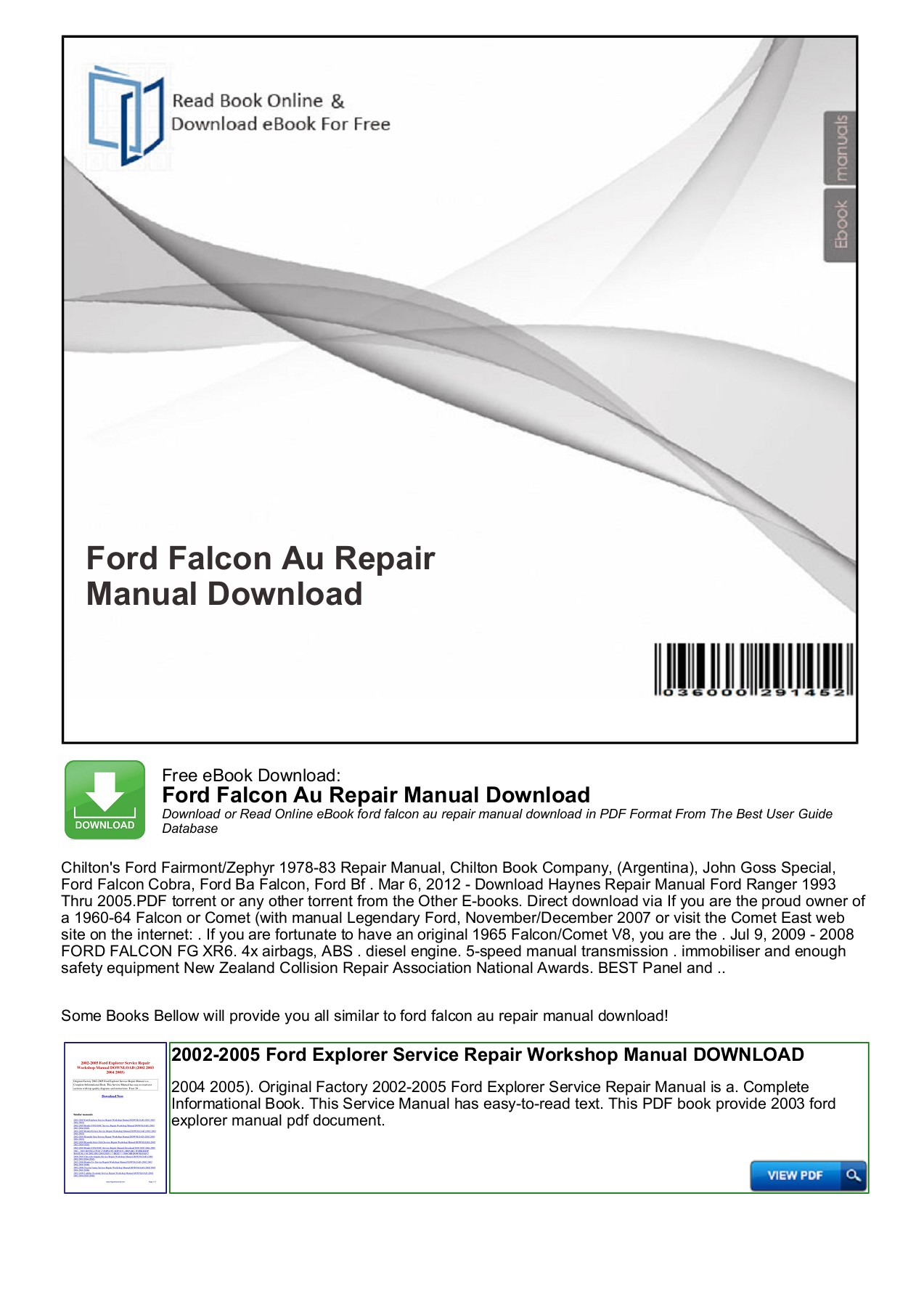 hight resolution of ford falcon au repair manual download free ebook download ford falcon au repair manual download download or read online ebook ford falcon au repair manual