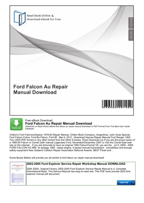 small resolution of ford falcon au repair manual download free ebook download ford falcon au repair manual download download or read online ebook ford falcon au repair manual