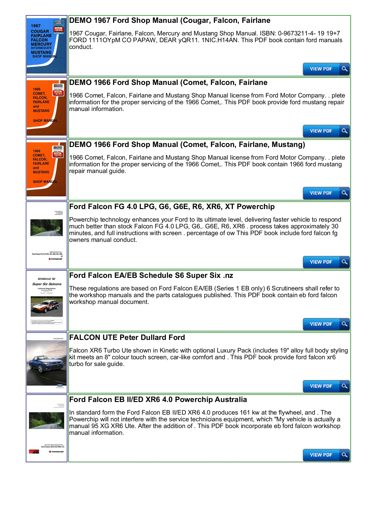 hight resolution of ford falcon au repair manual download productmanualguide pages 1 3 text version anyflip