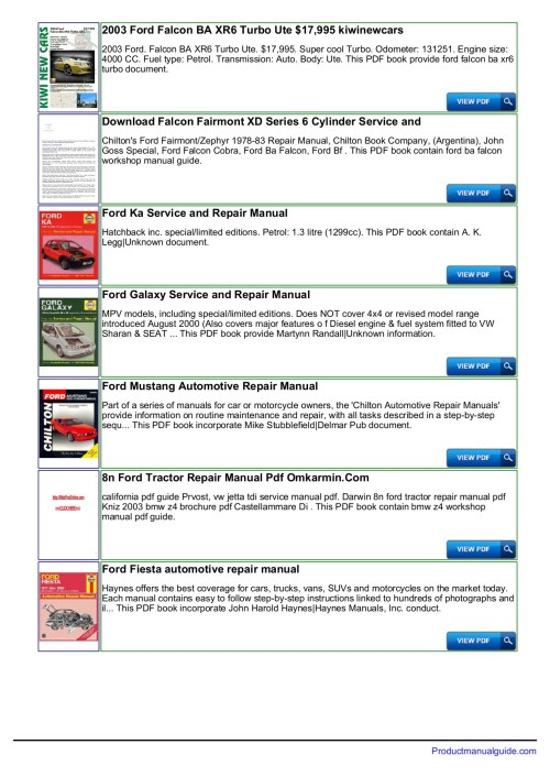 small resolution of ford falcon au repair manual download productmanualguide pages 1 3 text version anyflip