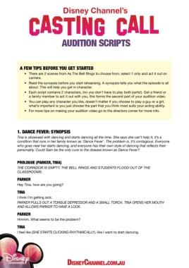Nickelodeon Open Casting Calls 2020 : nickelodeon, casting, calls, AUDITION, SCRIPTS, Disney