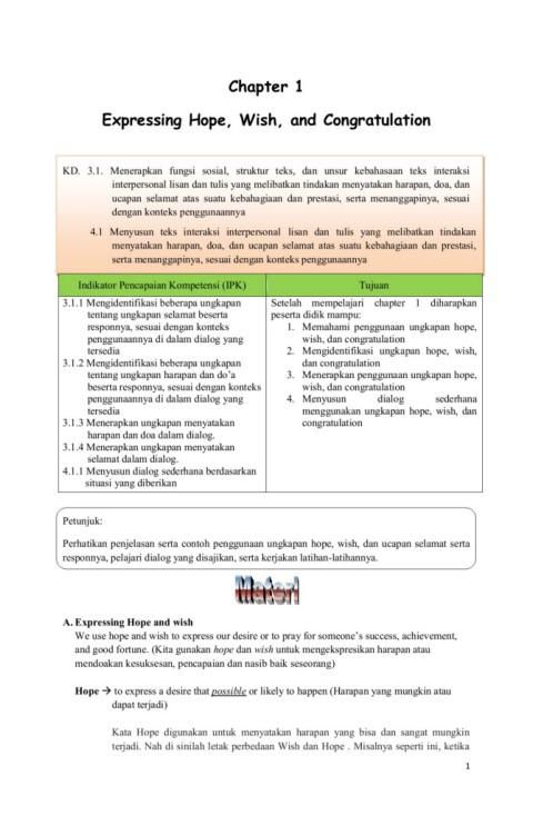 Materi Hope And Wish Kelas 9 : materi, kelas, Bahan, Bahasa, Inggris, Kelas, IX/1-Flip, EBook, Pages, AnyFlip