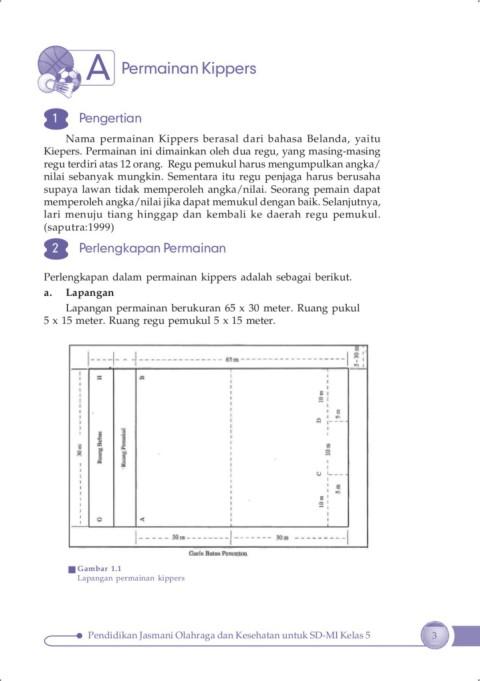 Buatlah Gambar Lapangan Permainan Kippers Lengkap Dengan Ukurannya : buatlah, gambar, lapangan, permainan, kippers, lengkap, dengan, ukurannya, Materi, Penjas, 5-Flip, EBook, Pages, AnyFlip
