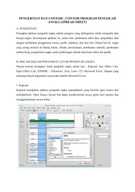 Pengertian Software Spreadsheet : pengertian, software, spreadsheet, Contoh, Spreadsheet