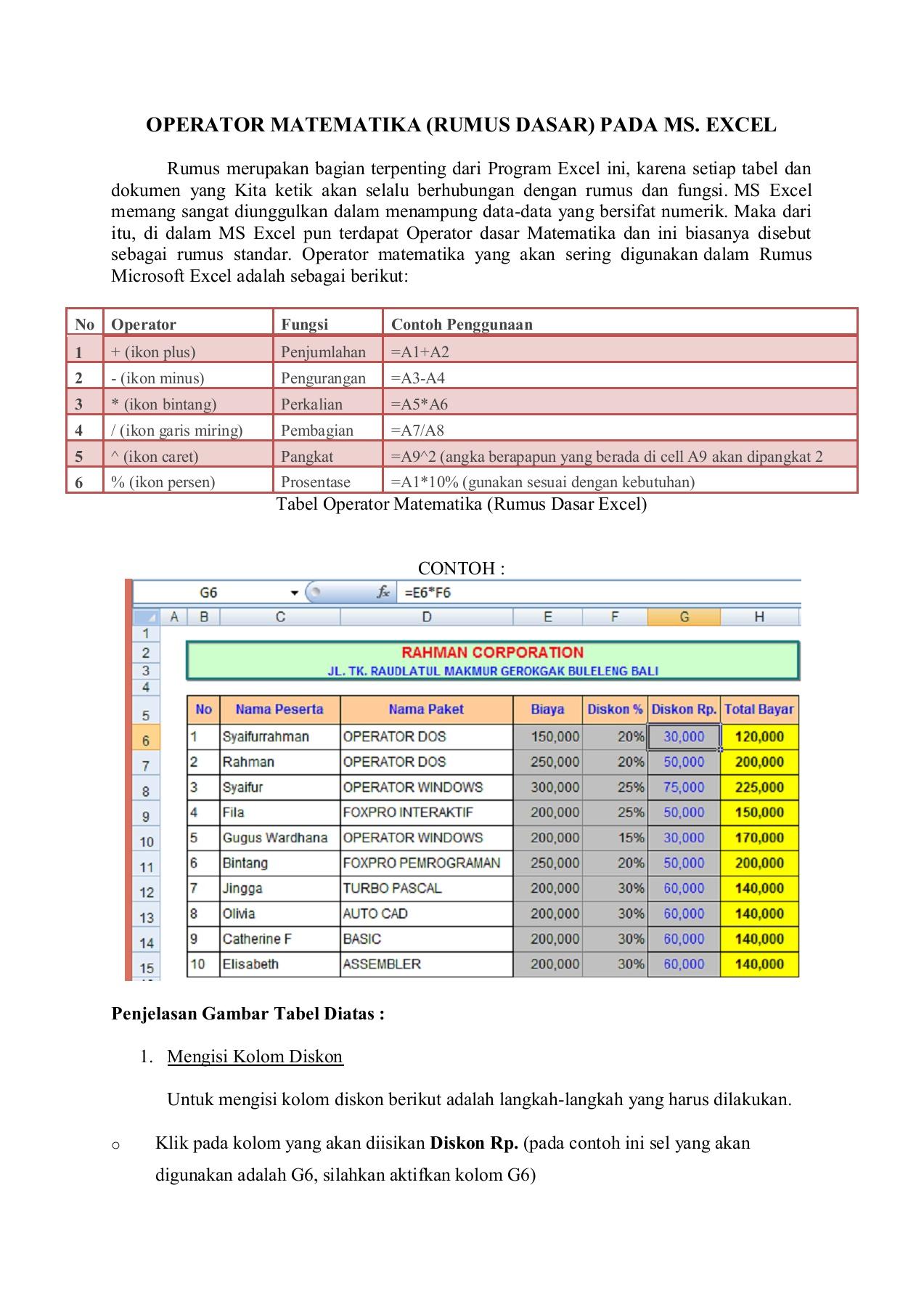 Rumus Excel Penjumlahan Dan Pengurangan Dalam Satu Kolom : rumus, excel, penjumlahan, pengurangan, dalam, kolom, RUMUS, SEDERHANA, EXCEL-Flip, EBook, Pages, AnyFlip