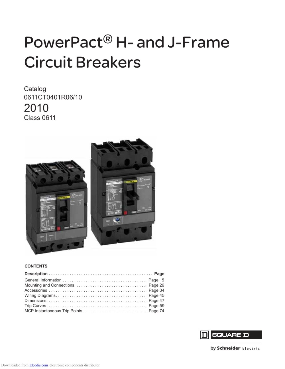 medium resolution of powerpact h and j frame circuit breakers catalog 0611ct0401r06 10 2010 class 0611 contents description