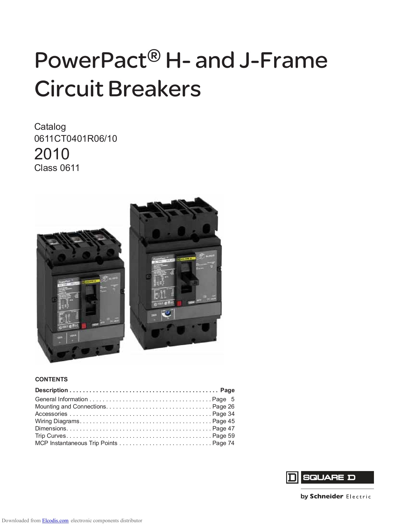 hight resolution of powerpact h and j frame circuit breakers catalog 0611ct0401r06 10 2010 class 0611 contents description