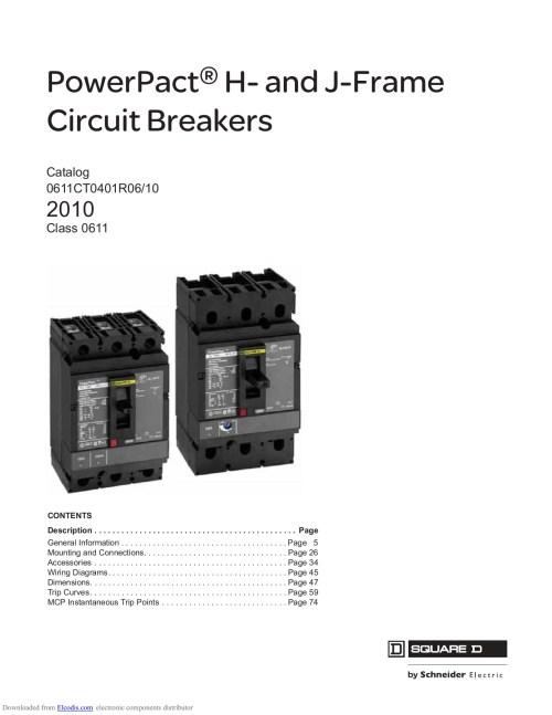 small resolution of powerpact h and j frame circuit breakers catalog 0611ct0401r06 10 2010 class 0611 contents description