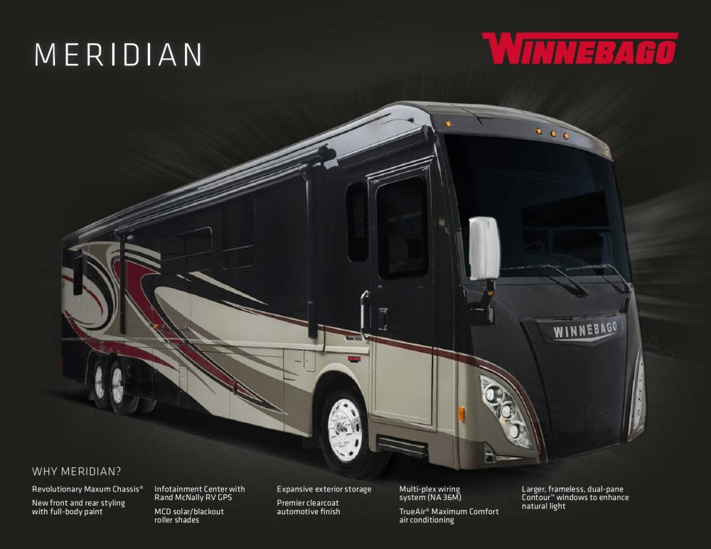 medium resolution of winnebago meridian 2016