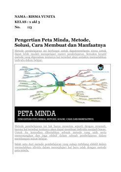 Membuat Peta Minda : membuat, minda, MINDA