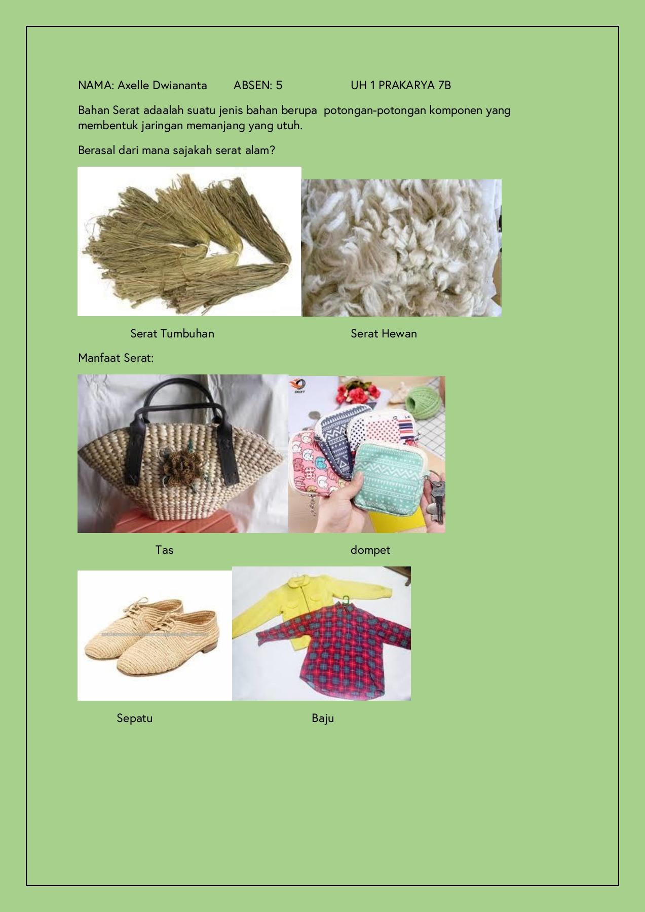 Serat Hewan Dan Tumbuhan : serat, hewan, tumbuhan, PRAKARYA, Axelle, Dwiananta, 5-Flip, EBook, Pages, AnyFlip