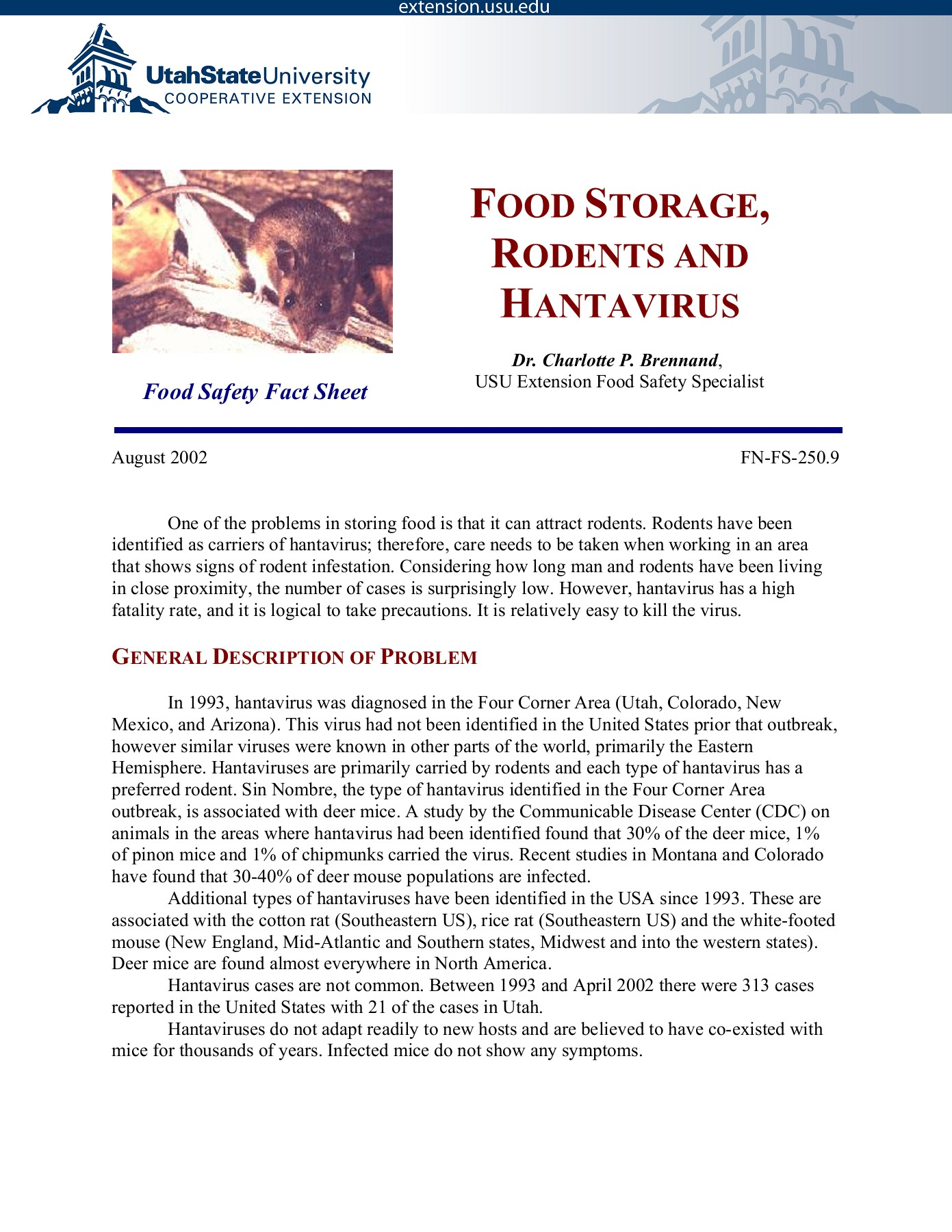 FOOD STORAGE RODENTS AND HANTAVIRUS Pages 1 - 5 - Text Version ...