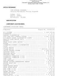 copyright 1998 mitchell repair information company llc monday april 01 2002 10 15am article beginning 1992 wiring diagrams chrysler mitsubishi wiring  [ 1391 x 1800 Pixel ]