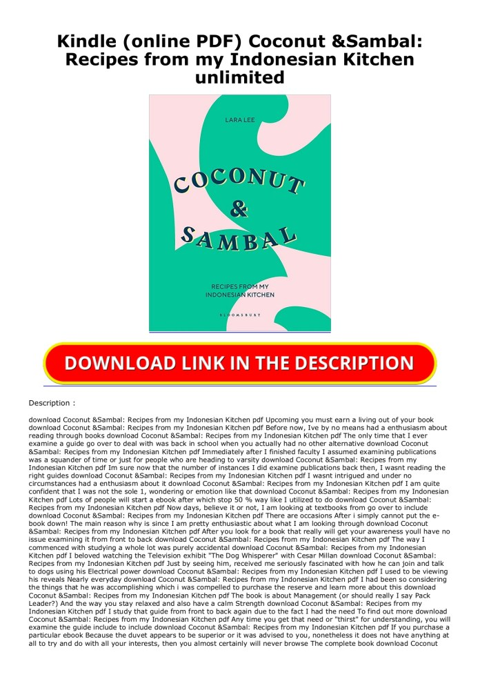 Kindle Online Pdf Coconut Sambal Recipes From My Indonesian Kitchen Unlimited Flip Ebook Pages 1 2 Anyflip Anyflip