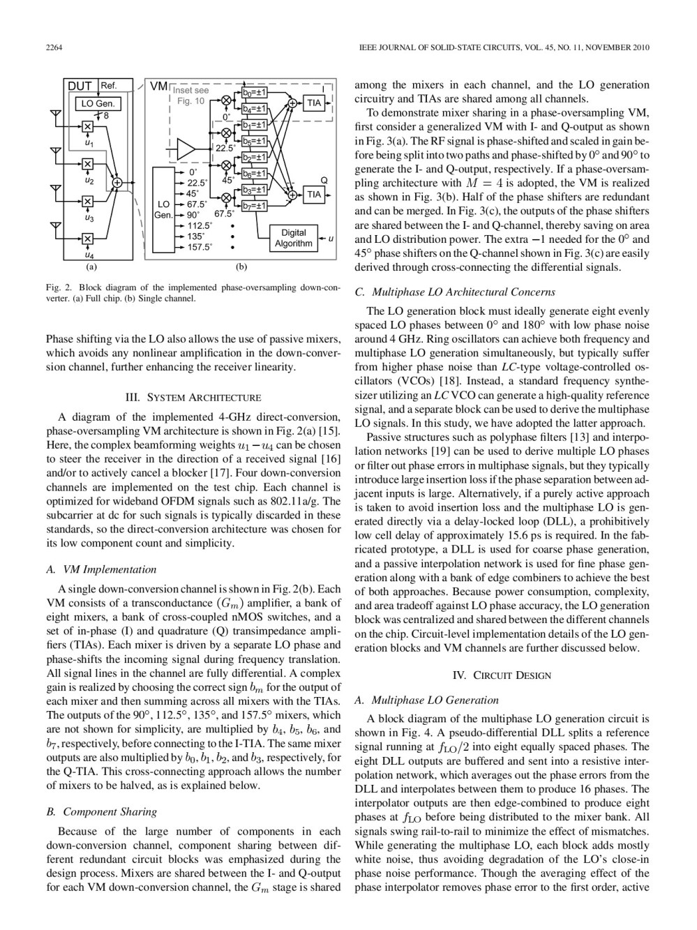 medium resolution of 2262 ieee journal of solid state circuits vol 45 no 11 november 2010 a four channel beamforming down converter in 90 nm cmos utilizing phase