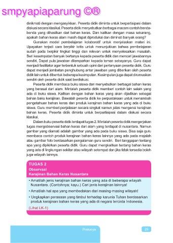 Kerajinan Bahan Keras Nusantara : kerajinan, bahan, keras, nusantara, PRAKARYA