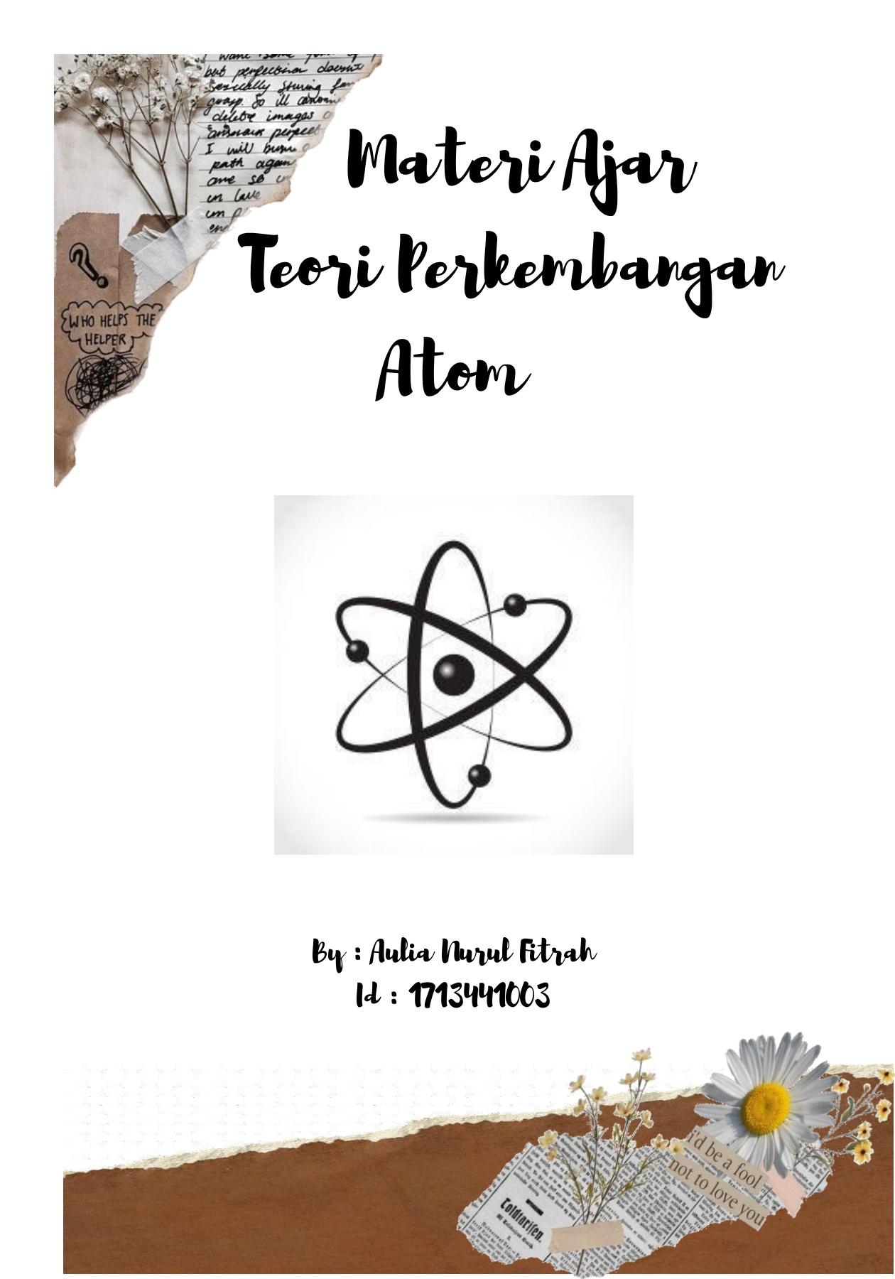 Teori Atom Roti Kismis : teori, kismis, Teori, Perkembangan, Atom-Flip, EBook, Pages, AnyFlip