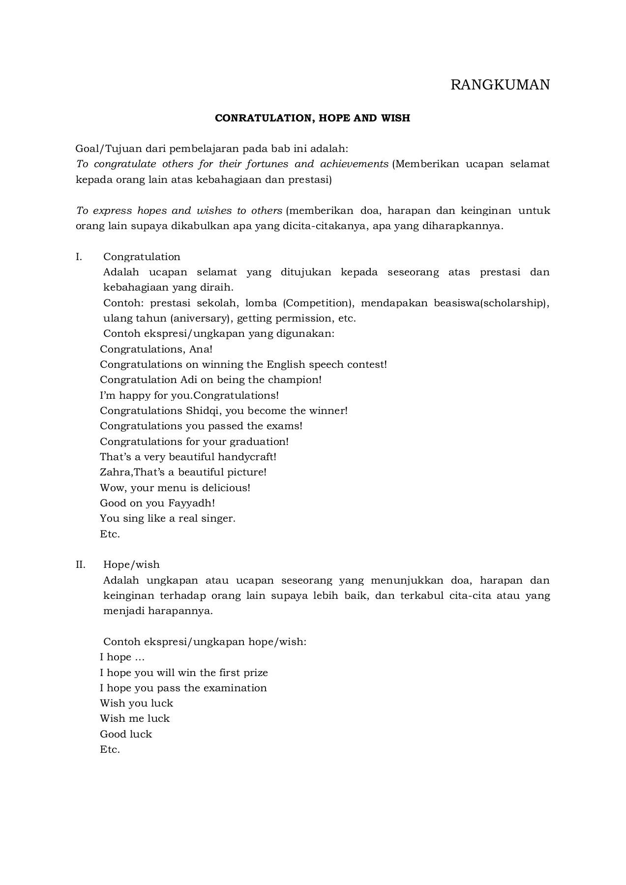 Materi Hope And Wish Kelas 9 : materi, kelas, MATERI, CONRATULATION, KELAS, Pages, Download, FlipHTML5