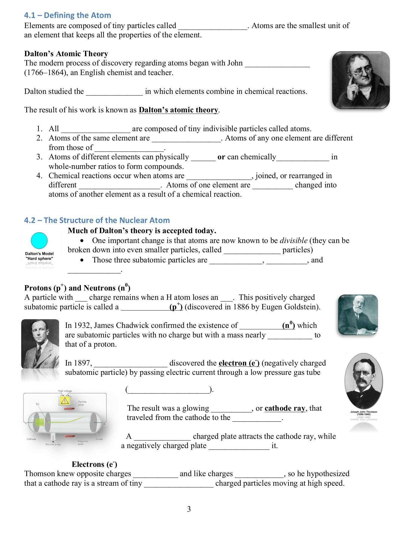 Abundance Of Isotopes Chem Worksheet 4 3 Answer Key