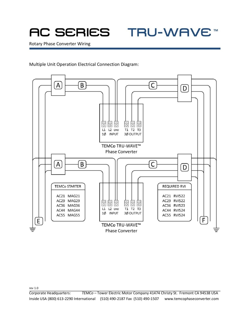 medium resolution of ac series tru wave tm phase converter pages 1 3 text version series and parallel wiring tm 3