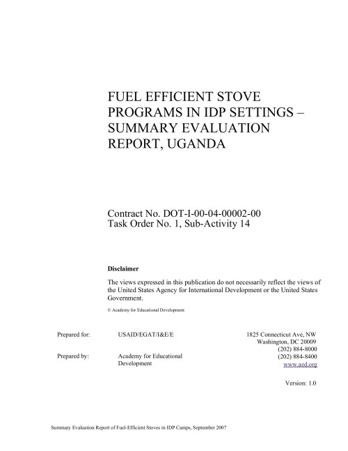 small resolution of fuel efficient stove programs in idp settings summary pages 1 39 text version fliphtml5