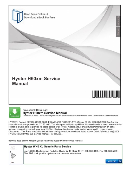 small resolution of  hyster h60xm service manual productmanualguide pages 1 4 text on hyster ignition system