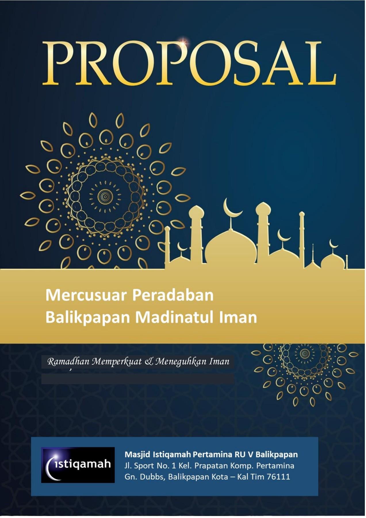 Cover Proposal Masjid : cover, proposal, masjid, PROPOSAL, RAMADHAN