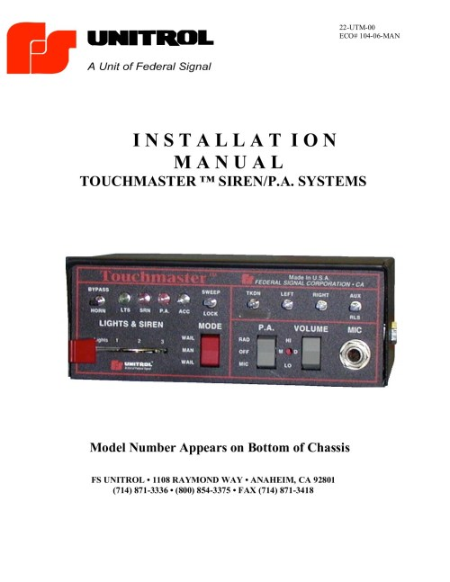 small resolution of unitrol touchmaster wiring diagram