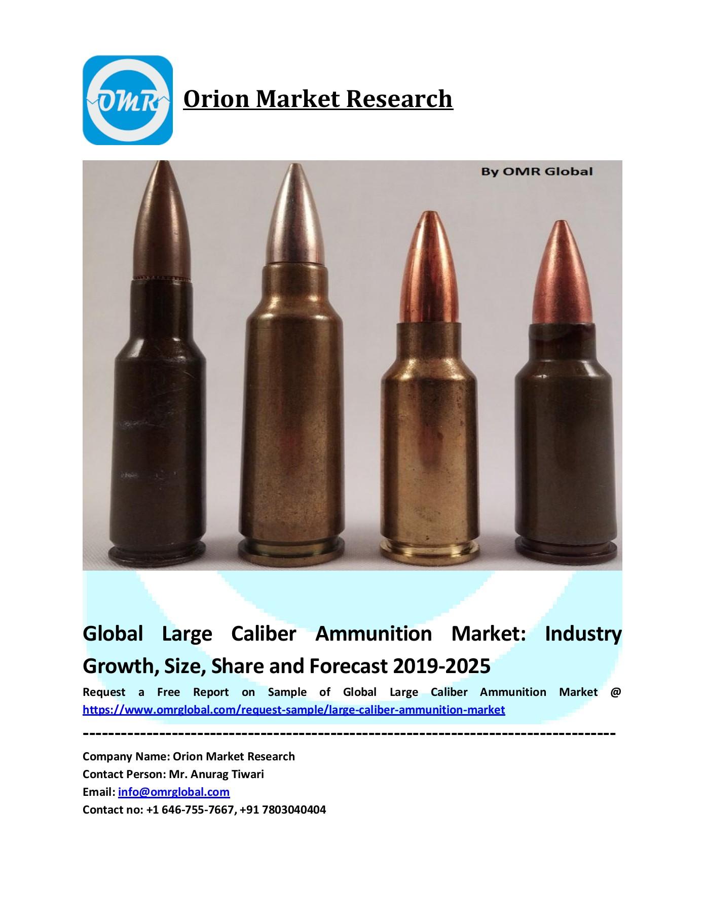 Caliber Size : caliber, Global, Large, Caliber, Ammunition, Market, Size,, Share, Forecast, 2019-2025
