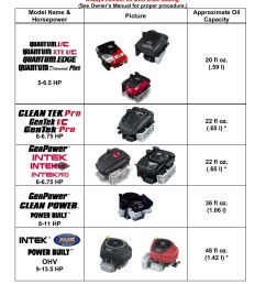 oil capacity briggs stratton engines pages 1 8 text version fliphtml5 [ 1391 x 1800 Pixel ]