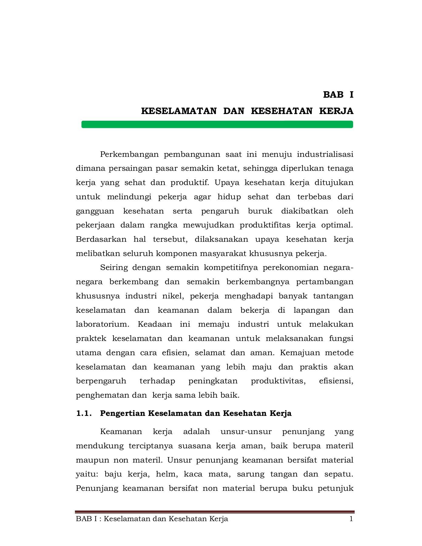 Unsur Unsur Penunjang Keselamatan Kerja : unsur, penunjang, keselamatan, kerja, 1_A_Revisi_BAB, KESELAMATAN, KESEHATAN, KERJA, Pages, Download, FlipHTML5