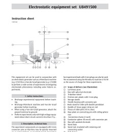 3b scientific physics electrostatic equipment set u8491500 pages 1 4 text version fliphtml5 [ 1272 x 1800 Pixel ]