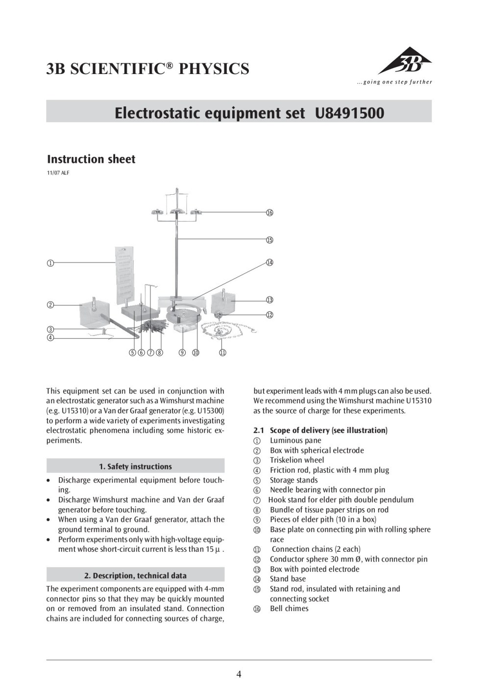 medium resolution of 3b scientific physics electrostatic equipment set u8491500 pages 1 4 text version fliphtml5