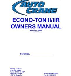 auto crane econo ton 2 wiring schematic [ 1391 x 1800 Pixel ]