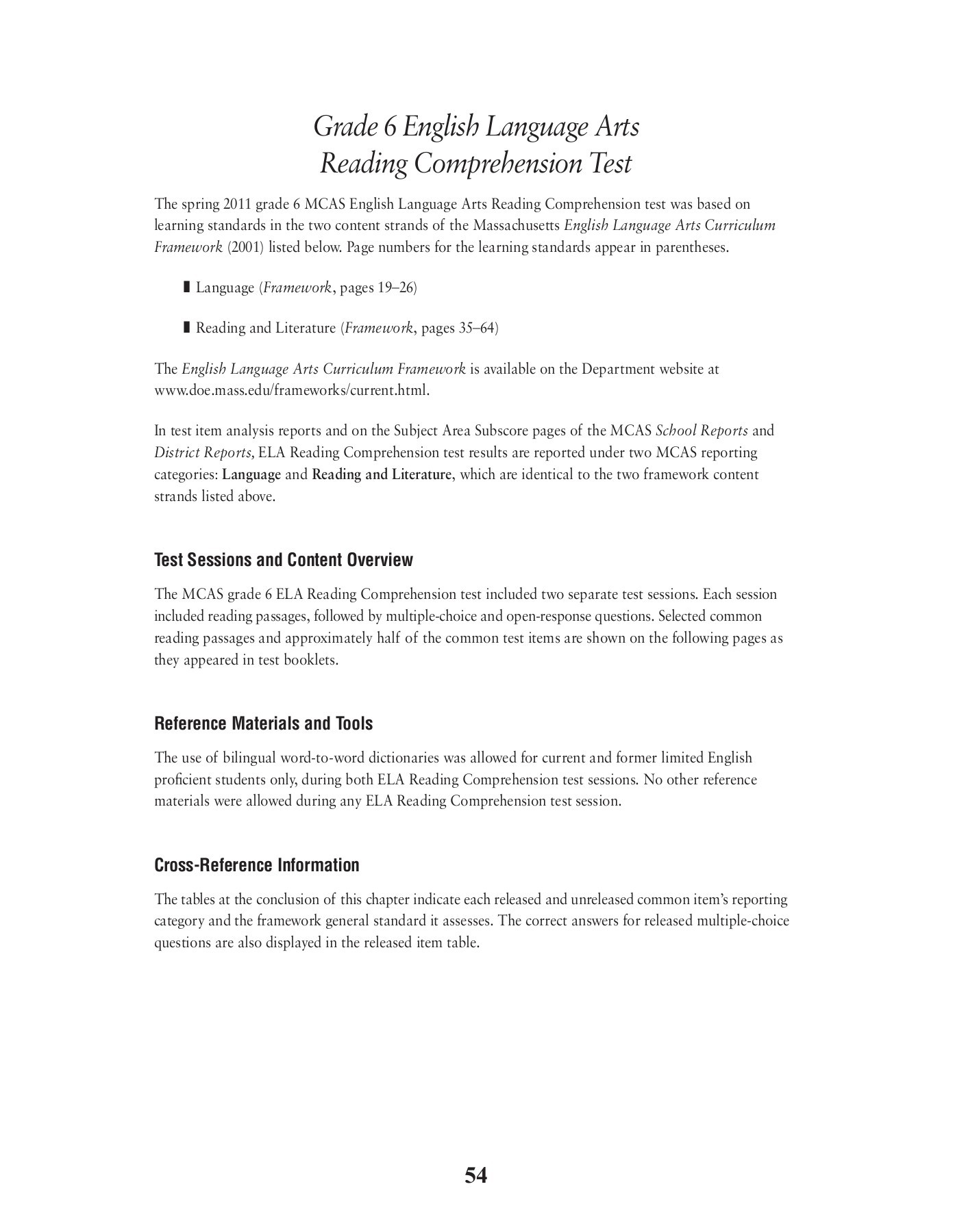 Reading Comprehensions Year 6