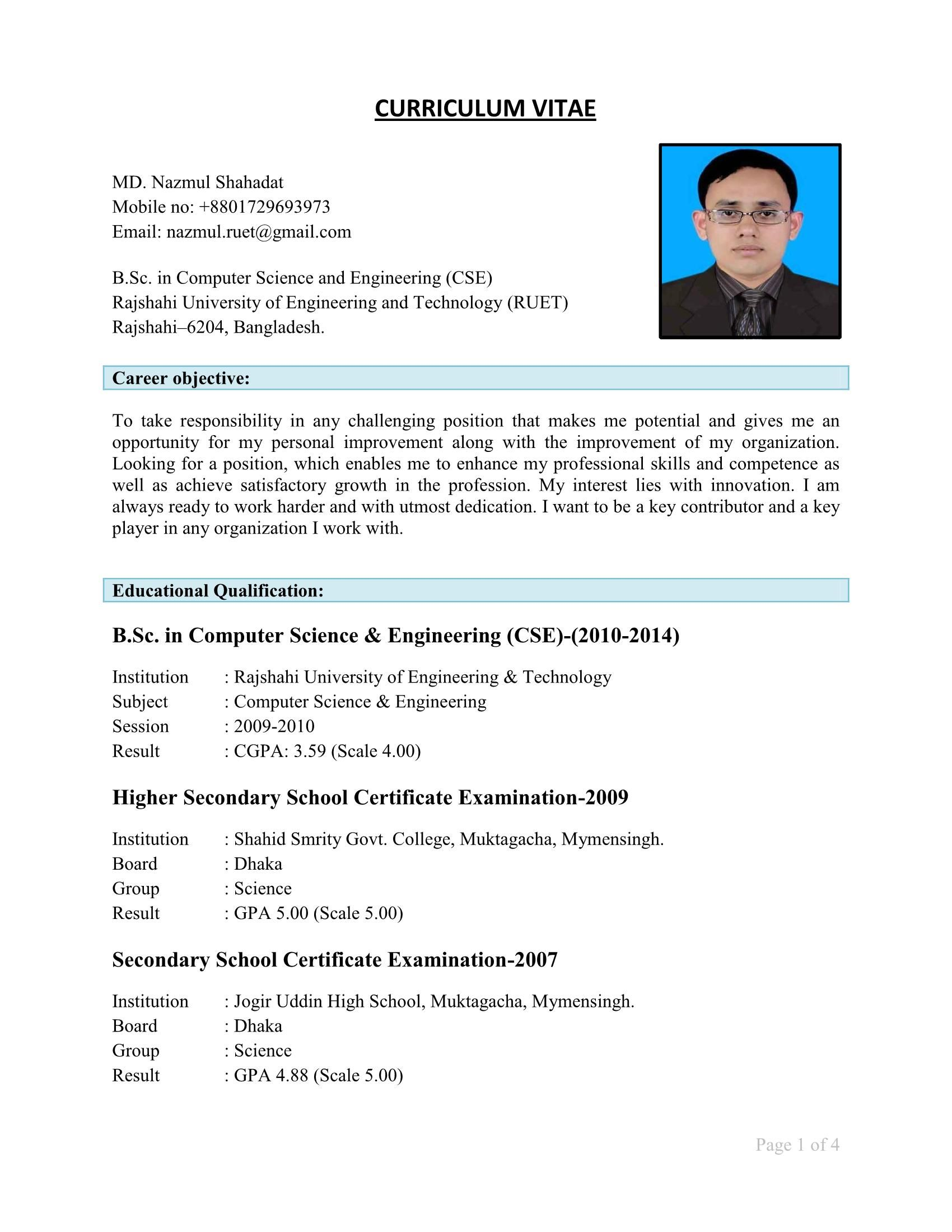 Cv Format For Bangladesh Pdf Download : format, bangladesh, download, Bangladesh, Format, Download, Resume, Sample, 15811, Easily, Personalized, Whichever, Industry, Applying, Arvilla, Frady