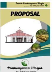 Cover Proposal Masjid : cover, proposal, masjid, Proposal, Masjid, Bakar, Shidduq