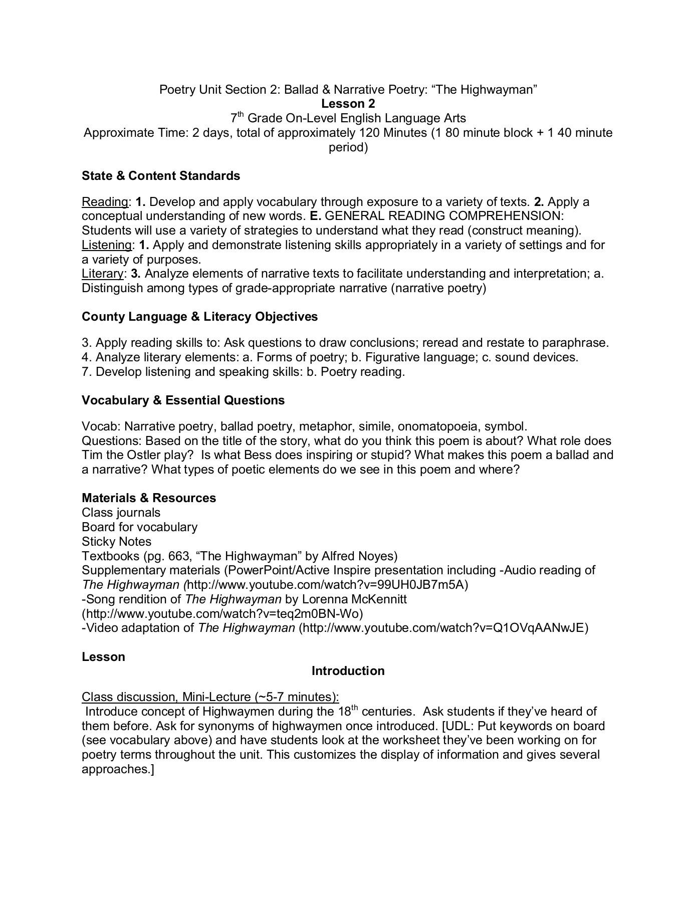 7th Grade Onomatopoeia Worksheets