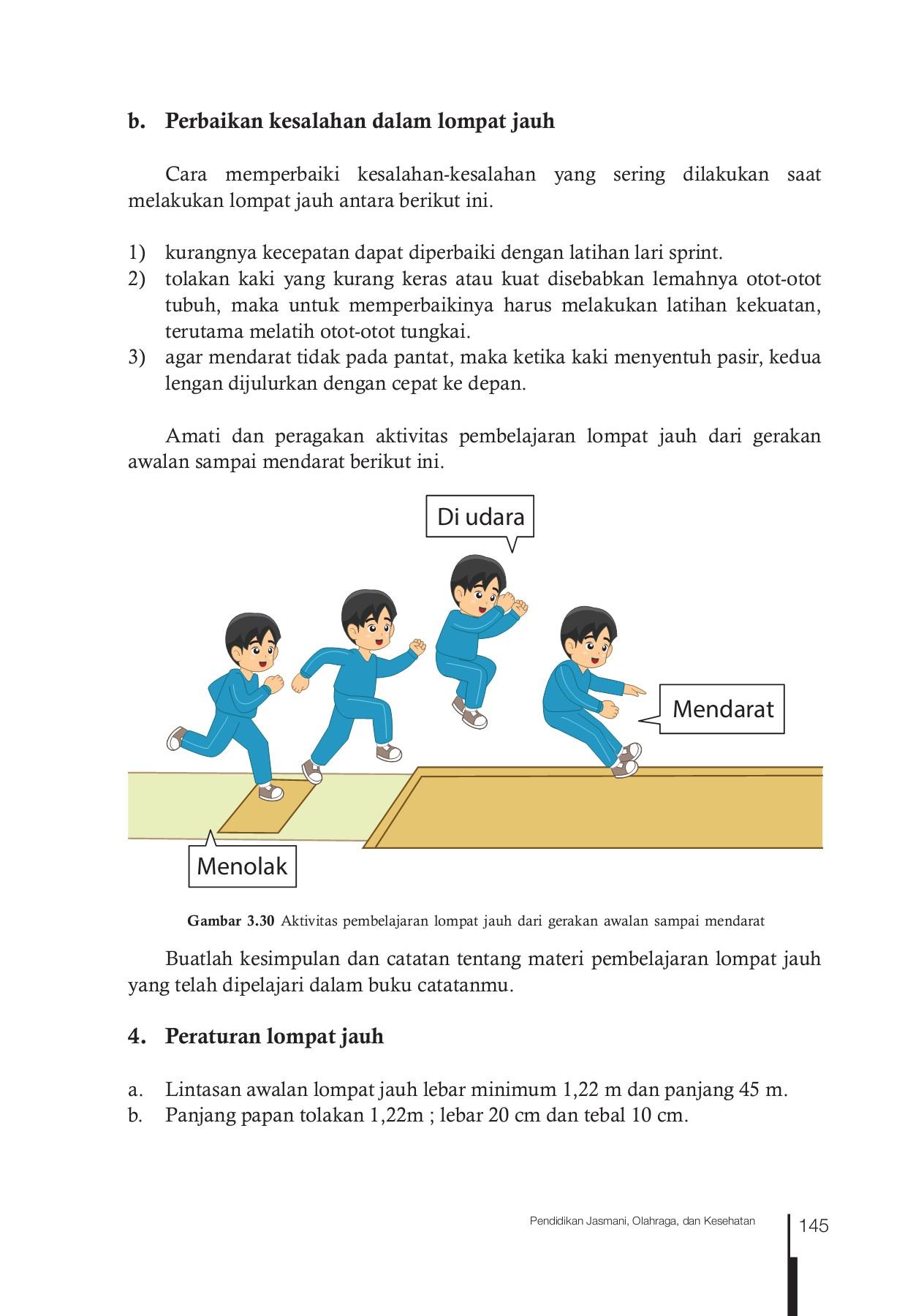 Panjang Lintasan Lompat Jauh : panjang, lintasan, lompat, Kelas, Pendidikan, Jasmani, Olahraga, Kesehatan, Siswa, Pages, Download, FlipHTML5