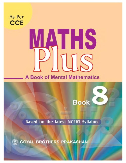 small resolution of Maths Plus - A Book of Mental Mathematics for Class-8