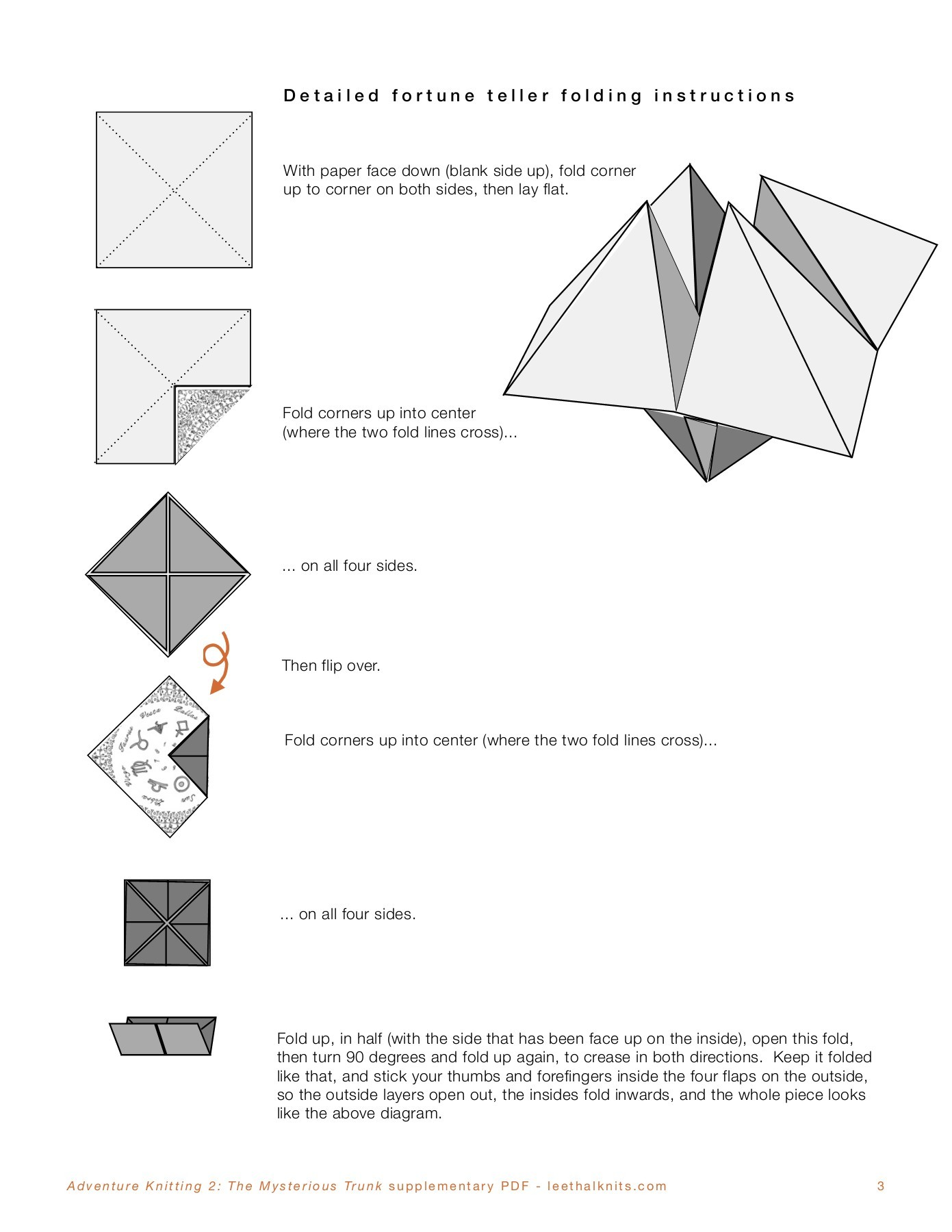 Origami Fortune Teller Instructions Jadwal Bus