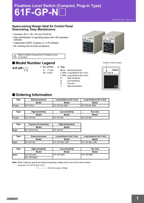 small resolution of floatless level switch compact plug in type 61f gp n pages 1 15 text version fliphtml5